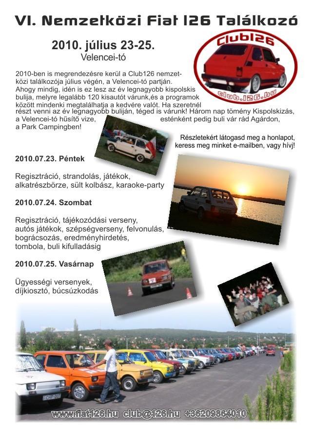 VI. Nemzetközi Fiat 126 Találkozó